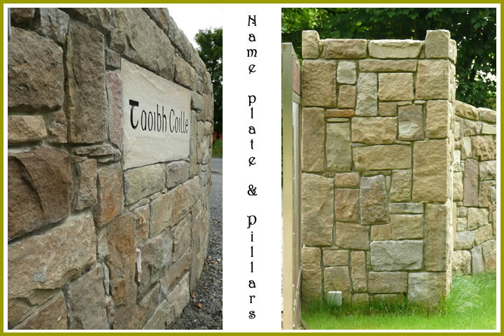 Stone.wall.Name-Plate.Pillars