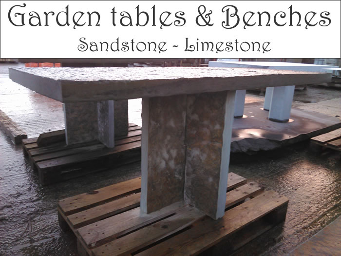 Stone_Table_and_Benches_for_sale.Garden